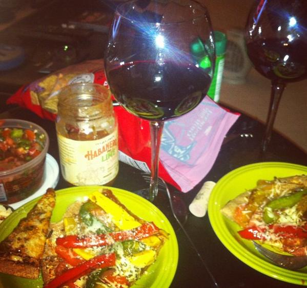 Wine 'n Dine: VeggiePizza